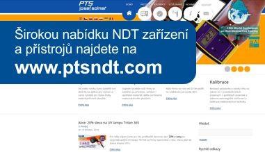 Nabídka NDT zařízení a přístrojů na www.ptsndt.com