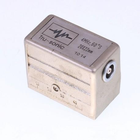 Sonda Tru-sonic 4Mhz, 60º, 20x22mm